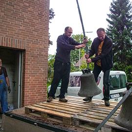 Glockenausbau und Übergabe in Hückelhoven