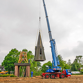 Umzug eines Glockenturmes
